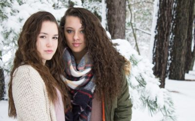 Snowy Senior Photo Shoot